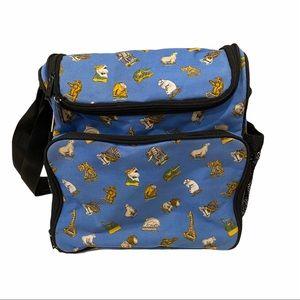 Circus Animal Boutique Travel Baby Bag Blue Diaper
